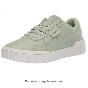 PUMA Women's Cali Sneaker Green-Smoke gr, 9 M US